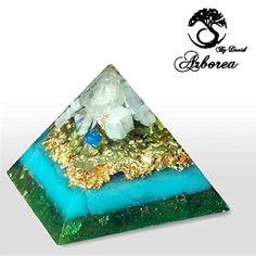 Big Orgone Pyramid, Reiki charged, Inspiration, Heals, meditation, ArboreaCrystals Design Orgonite , 22kt
