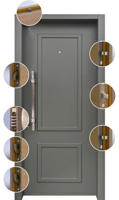 Decorative residential steel security doors with many finish ...
