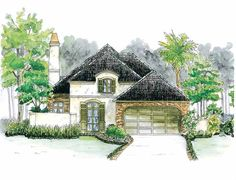 Eplans French Country House Plan - A Lovely European Cottage - 1756 Square Feet and 3 Bedrooms from Eplans - House Plan Code HWEPL06704