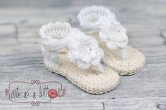 Häkelanleitung für Sandalen, Häkelsandalen, eBook für den Sommer / diy crochet tutorial for summer sandals made by Cute as a button via DaWanda.com