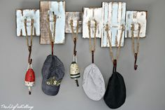 vintage nautical boys rooms | Little man likes to accessorize so he needed a place to hang his hat ...