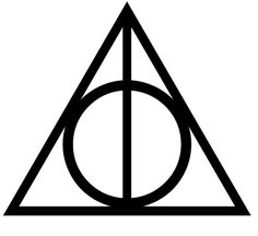 Harry Potter deathly hallows symbol made from outdoor adhesive vinyl… Logo Harry Potter, Stickers Harry Potter, Harry Potter Clip Art, Harry Potter Coloring Book, Harry Potter Symbols, Images Harry Potter, Harry Potter Tattoos, Harry Potter Triangle Symbol, Deathly Hallows Symbol