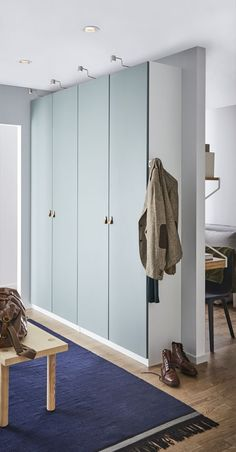 Ikea Closet Storage Systems New 35 Ikea Pax Wardrobe Hacks that Inspire Ikea Closet Storage, Ikea Pax Closet, Closet Storage Systems, Bedroom Closet Doors, Ikea Pax Wardrobe, Closet Hacks, Hallway Storage, Ikea Bedroom, Wardrobe Doors