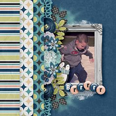 Layout By Brenian Designs.  Snow Cold Bundle by Lisa Rosa Designs