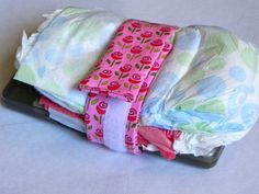 Diaper Holder Carrier Wipes Holder Cloth Diaper - Such an awesome Idea.  This would totally make my purse more organized!