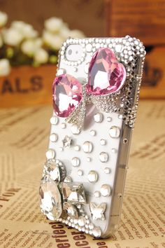 iPhone4 3GS Crystals Butterfly Flexible Gift Cover