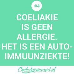 Coeliakie feitje #4: Coeliakie is geen allergie. Het is een auto-immuunziekte Calm