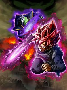 Dokkan Battle LR Black And Zamasu Wallpaper 1440p by davidmaxsteinbach