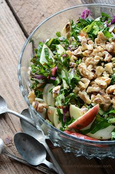 Apple Walnut Rainbow Chard Salad + More Healthy Detox Recipes!
