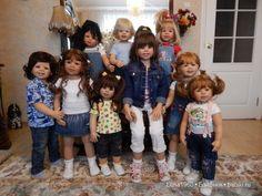 Красивые фото для хорошего настроения! Мои девочки от Моники Левениг / Коллекционные куклы Masterpiece dolls / Бэйбики. Куклы фото. Одежда для кукол