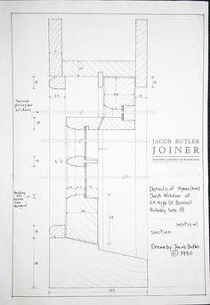 traditional timber sash drawing