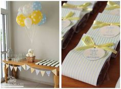 Teddy Bear Baby Shower So many gorgeous details to L♥VE…. ♥ Teddy Bear cake pops♥ Baby Block cake pops♥ Three tiered cake with Teddy Bear cake topper♥ Teddy bear assorted baby shower cooki…
