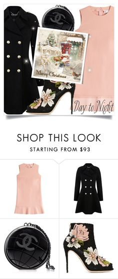"""""""Day to Night: Holiday Party"""" by miee0105 ❤ liked on Polyvore featuring RED Valentino, Miss Selfridge, Chanel and Dolce&Gabbana"""