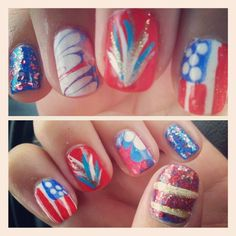 ttunelleinad's festive tips. Show us your 4th of July-inspired nails! Tag your pic #SephoraNailspotting to be featured on our social sites.