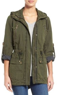 Women's Levi's Parachute Hooded Cotton Utility Jacket  #affiliate