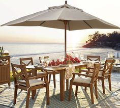 I like the idea of enjoying dinner outside with a nice glass of wine ... beachfront property must be included.