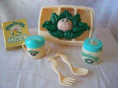 Cabbage Patch Kid Feeding Set  Rare  1980s by BornToHang on Etsy, $20.00
