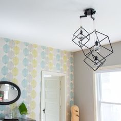 DIY Modern Cube Light Fixture Inspiration | Apartment Therapy