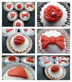Valentine Cupcakes Valentine Cupcakes, Valentine Ideas, Valentine Crafts, Mini Cupcakes, Cupcake Cakes, Valentines Day, Blooming Rose, Bar Ideas, Sweets