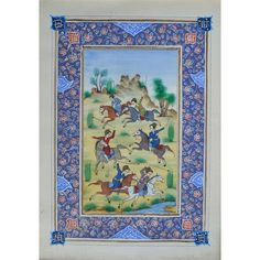 Persian miniature painted on ivory