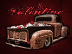Valentine on the Rat Rod of Love Makes a Great Valentine's Card or Print 4 Ur True Love as Long as They're a Hot Rodders or Completely Daffy!