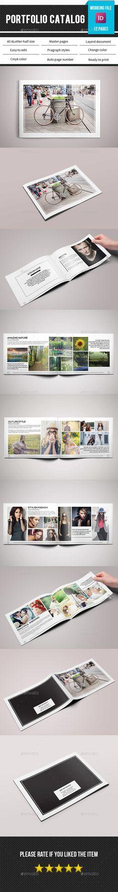 Portfolio Catalog / Brochure Template InDesign INDD #design Download: http://graphicriver.net/item/portfolio-catalogbrochurev187/14309865?ref=ksioks