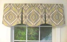 Image result for scalloped box pleat valance for bay window