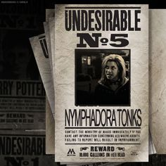 Nymphadora Tonks - she was #5? That's awesome.