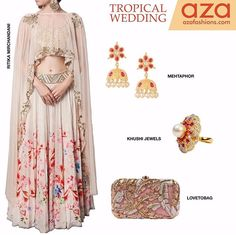 Azaa fashion# 2016# summer special + cape love # lehenga love