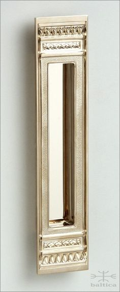 Anastasia Recessed Pull   Polished Bronze   Custom Door Hardware