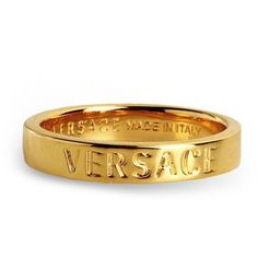 Versace Ring ($160) ❤ liked on Polyvore featuring men's fashion, men's jewelry, men's rings, gold and versace mens ring