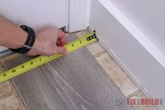 I locked the plank in place to the prior row close to the jamb. Then I used the tapping block on the end of the board until it slid all the way under the trim. Flooring For Stairs, Basement Flooring, Diy Flooring, Laminate Flooring, Installing Vinyl Plank Flooring, Vinyl Sheet Flooring, Painting Tile Floors, Floating Floor, 3d Modelle