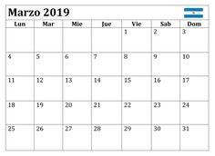 Calendario Marzo 2019 Argentina Words, March, Calendar, Argentina, Horse