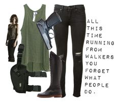 """""""Maggie Greene from TWD"""" by merryfluffytutu ❤ liked on Polyvore featuring rag & bone, Wilt and MM6 Maison Margiela"""