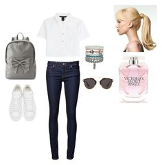 """""""Jeans"""" by sedefolga on Polyvore featuring moda, Marc by Marc Jacobs, Victoria's Secret, Candie's, Alexander McQueen, Christian Dior, women's clothing, women's fashion, women ve female"""