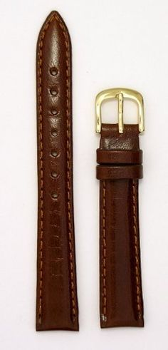 Ladies' Genuine Italian Leather Watchband - Color Tan - Size 8mm Width - Regular Length Watch Band - By JP Leatherworks - http://www.specialdaysgift.com/ladies-genuine-italian-leather-watchband-color-tan-size-8mm-width-regular-length-watch-band-by-jp-leatherworks/