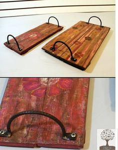 Wood Projects, Projects To Try, Pallet Pictures, Coffee And End Tables, Vintage Cafe, Wood Resin, Wood Tray, Wooden Pallets, Palette