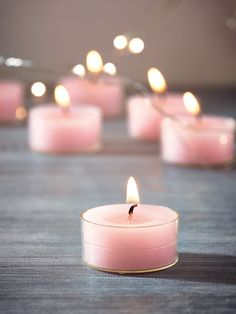 Set the mood for any occasion with our set of nine unscented tea light candles, coloured in a soft shade of blush pink. Made using high quality wax that achieves a burn time of up to 4 hours per candle, each tea light is encased in heat resistant clear plastic cups to show off the beautiful blush colour. Display these tea light candles on our Beaded Zinc Tray or used to light up our Filigree Tea Light Holders.