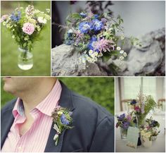 English country wedding flowers, mismatched flowers, vintage flowers, country wedding bouquet