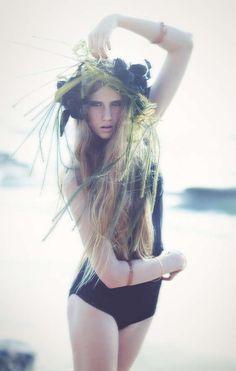 Avian Inspired Beach Editorials High Fashion PhotographyEDITORIAL