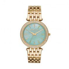 Michael Kors Armbanduhr – Darcie Pavé Gold-Tone Turquoise Watch – in gold – Armbanduhr für Damen