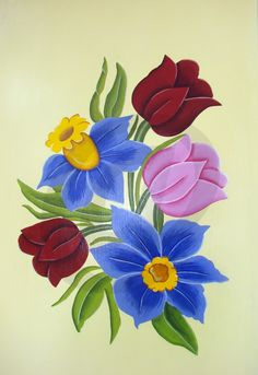 cuadro pintado a mano con acrílicos