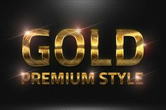 36 Premium Gold Style V02 by yantodesign on @creativemarket
