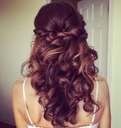 Elegant Wedding Hairstyles: Half Up Half Down