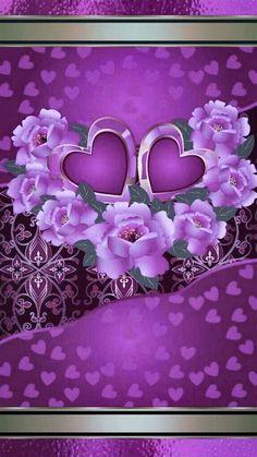 Bling Wallpaper, Flowery Wallpaper, Heart Wallpaper, Love Wallpaper, Cellphone Wallpaper, Iphone Wallpaper, Purple Love, All Things Purple, Deep Purple