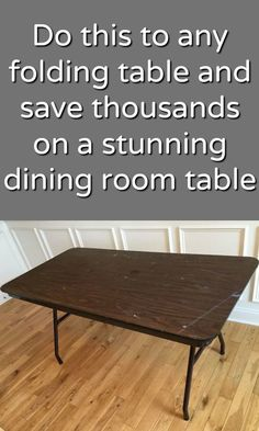 Banquet Table Makeover