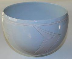 Per Rehfeldt, bowl in porcelain(1990). Own studio Gudhjem, Bornholm, Denmark.
