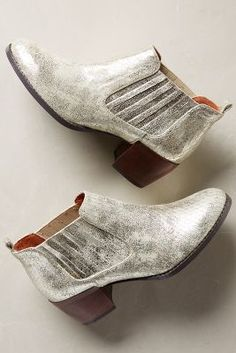 Schuler & Sons Chelsea Booties Gold Boots - anthropologie.com #anthrofave