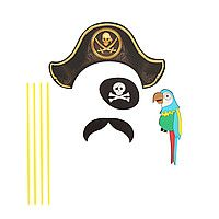 """Карнавальный набор для фотосессии """"Пират"""", 4 предмета: шляпа, наглазник, усы, попугай 1090269 1090269"""