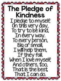 Do this every morning with your students to practice reading aloud, fluency and the important of kindness towards others.